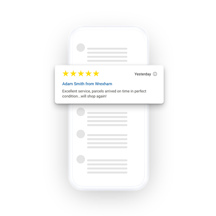 Trusted Shops reviews shown on a device