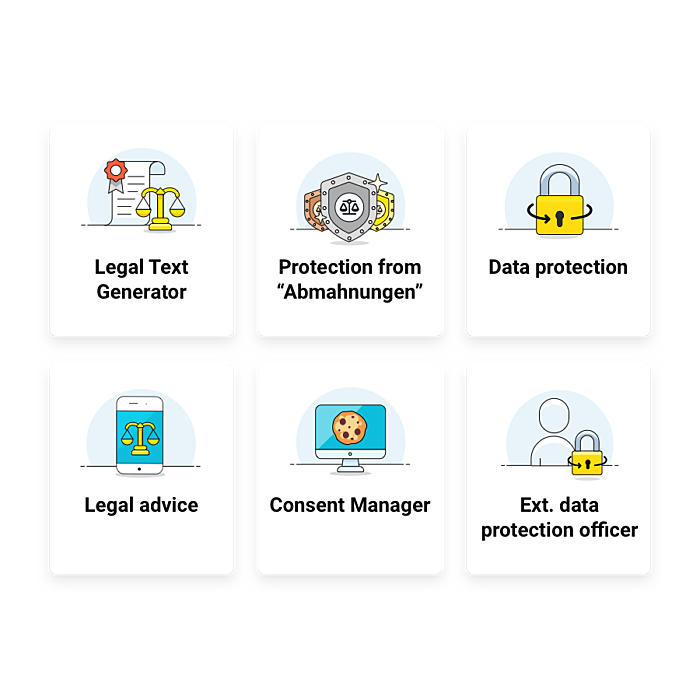 Product overview of Trusted Shops Legal Services
